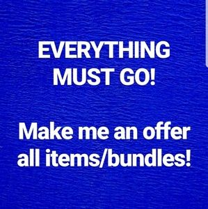 Moving sale! Everything in my closet must go!